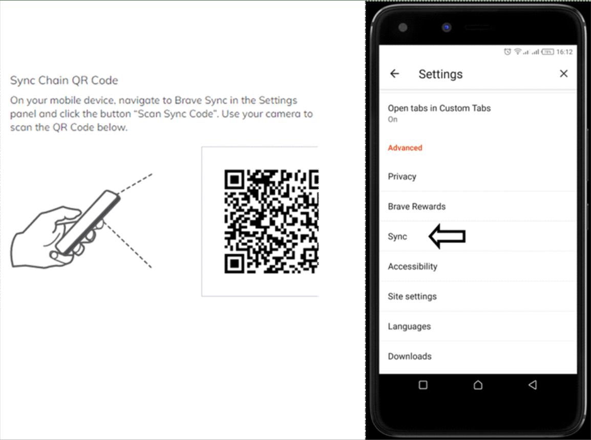 Brave Sync QR Codes